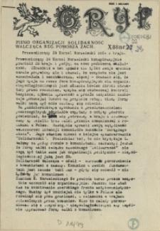 """Gryf : pismo organizacji """"Solidarność Walcząca"""" Oddział Pomorze Zachodnie. 1988 nr 22"""
