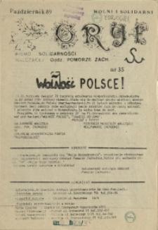 """Gryf : pismo organizacji """"Solidarność Walcząca"""" Oddział Pomorze Zachodnie. 1989 nr 35"""