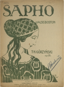 Sapho : valse-boston : op. 35