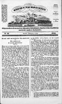 Börsen-Nachrichten der Ost-See : allgemeines Journal für Schiffahrt, Handel und Industrie jeder Art. 1840 Nr. 46