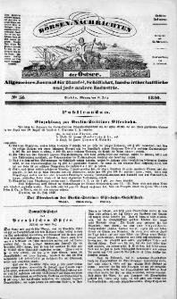 Börsen-Nachrichten der Ost-See : allgemeines Journal für Schiffahrt, Handel und Industrie jeder Art. 1840 Nr. 56