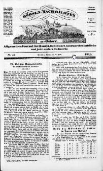 Börsen-Nachrichten der Ost-See : allgemeines Journal für Schiffahrt, Handel und Industrie jeder Art. 1840 Nr. 59
