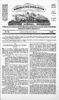 Börsen-Nachrichten der Ost-See : allgemeines Journal für Schiffahrt, Handel und Industrie jeder Art. 1840 Nr. 76