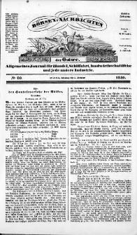 Börsen-Nachrichten der Ost-See : allgemeines Journal für Schiffahrt, Handel und Industrie jeder Art. 1840 Nr. 80