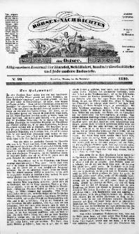 Börsen-Nachrichten der Ost-See : allgemeines Journal für Schiffahrt, Handel und Industrie jeder Art. 1840 Nr. 92