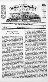 Börsen-Nachrichten der Ost-See : allgemeines Journal für Schiffahrt, Handel und Industrie jeder Art. 1840 Nr. 94