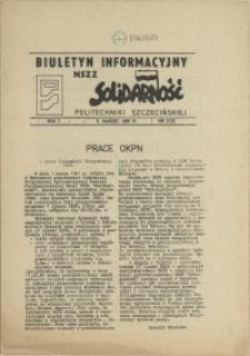 """Biuletyn Informacyjny NSZZ """"Solidarność"""" Politechniki Szczecińskiej. 1981 nr 3"""