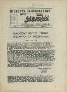 """Biuletyn Informacyjny NSZZ """"Solidarność"""" Politechniki Szczecińskiej. 1981 nr 4"""