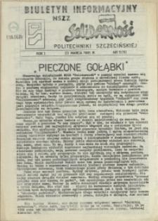 """Biuletyn Informacyjny NSZZ """"Solidarność"""" Politechniki Szczecińskiej. 1981 nr 5"""