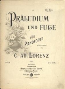 Präludium und Fuge : für Pianoforte : Op. 78