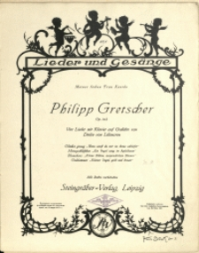 Vier Lieder mit Klavier auf Gedichte von Detlev von Liliencron : Op. 103