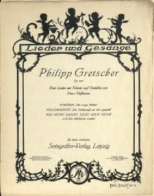 Drei Lieder mit Klavier auf Gedichte von Hans Hoffmann : Op. 104