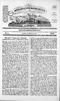 Börsen-Nachrichten der Ost-See : allgemeines Journal für Schiffahrt, Handel und Industrie jeder Art. 1841 Nr. 1