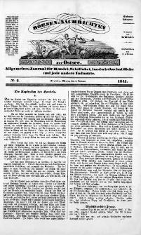 Börsen-Nachrichten der Ost-See : allgemeines Journal für Schiffahrt, Handel und Industrie jeder Art. 1841 Nr. 2