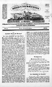 Börsen-Nachrichten der Ost-See : allgemeines Journal für Schiffahrt, Handel und Industrie jeder Art. 1841 Nr. 3