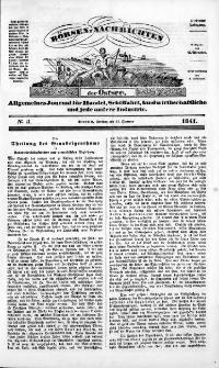 Börsen-Nachrichten der Ost-See : allgemeines Journal für Schiffahrt, Handel und Industrie jeder Art. 1841 Nr. 5