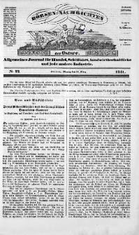 Börsen-Nachrichten der Ost-See : allgemeines Journal für Schiffahrt, Handel und Industrie jeder Art. 1841 Nr. 22