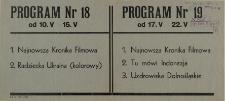 Program Nr 19 od 17.V - 22.V