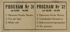 Program Nr 32 od 16.VIII - 21.VIII