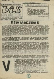 """BiS : biuletyn Informacyjny NSZZ """"Solidarność"""" Regionu Pomorza Zachodniego. 1987 nr 10"""