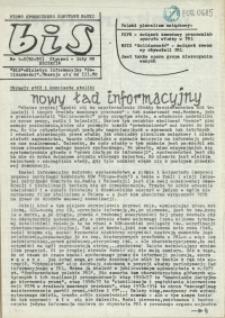 """BiS : biuletyn Informacyjny NSZZ """"Solidarność"""" Regionu Pomorza Zachodniego. 1989 nr 1-2"""