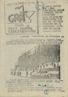 """Grot : pismo NSZZ """"Solidarność"""" Stoczniowców. 1984 nr 1"""
