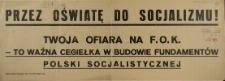 [Afisz] Przez oświatę do socjalizmu!