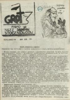 """Grot : pismo NSZZ """"Solidarność"""" Stoczniowców. 1985 nr 4"""