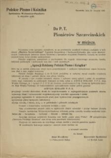 Do P.T. Pionierów Szczecińskich w miejscu