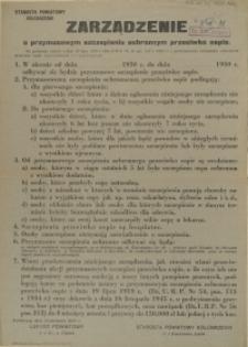 [Afisz] Zarządzenie o przymusowym szczepieniu ochronnym przeciwko ospie