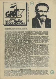 """Grot : pismo NSZZ """"Solidarność"""" Stoczniowców. 1985 nr 11"""