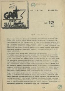 """Grot : pismo NSZZ """"Solidarność"""" Stoczniowców. 1985 nr 12"""
