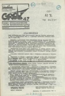 """Grot : pismo NSZZ """"Solidarność"""" Stoczniowców. 1985 nr 47"""