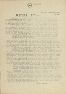 """Grot : pismo NSZZ """"Solidarność"""" Stoczniowców. 1985 dod. do nr 49"""