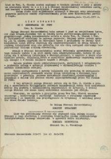 List otwarty do I sekretarza KC PZPR Tow. E. Gierka