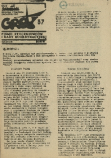 """Grot : pismo NSZZ """"Solidarność"""" Stoczniowców. 1986 nr 57"""