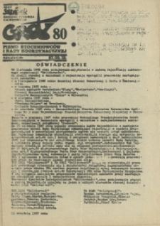 """Grot : pismo NSZZ """"Solidarność"""" Stoczniowców. 1987 nr 80"""