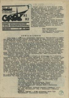 """Grot : pismo NSZZ """"Solidarność"""" Stoczniowców. 1987 nr 81/82"""