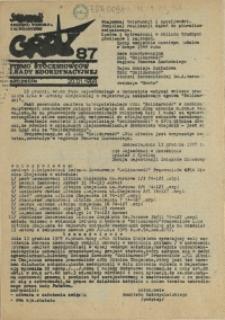 """Grot : pismo NSZZ """"Solidarność"""" Stoczniowców. 1988 nr 87"""