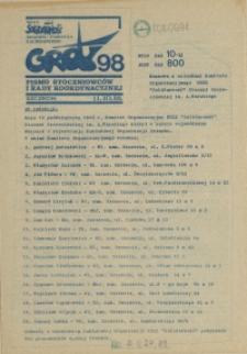 """Grot : pismo NSZZ """"Solidarność"""" Stoczniowców. 1988 nr 98"""