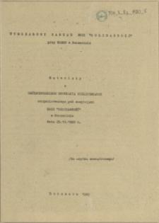 """Materiały z Ogólnopolskiego Spotkania Bibliotekarzy zorganizowanego pod auspicjami NSZZ """"Solidarność"""" w Szczecinie dnia 29.10.1980 r."""