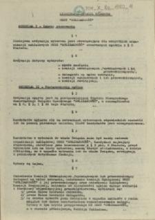 """Wzorcowa ordynacja wyborcza NSZZ """"Solidarność"""""""