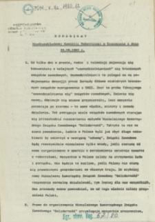 Komunikat Międzyzakładowej Komisji Robotniczej w Szczecinie z dnia 29.09.1980 r.