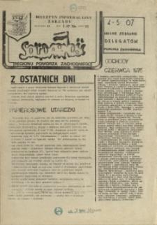 """Biuletyn Informacyjny Zarządu """"Solidarności"""" Regionu Pomorza Zachodniego. 1981 nr 35"""