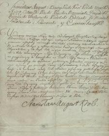 [List Stanisława Augusta Poniatowskiego, króla Polski do sędziego grodzkiego Morachowskiego]