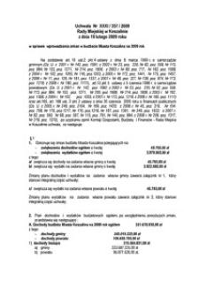 Uchwała Rady Miejskiej w Koszalinie nr XXXI/357/2009