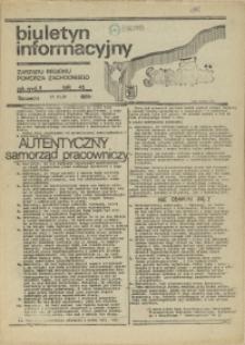 """Biuletyn Informacyjny Zarządu """"Solidarności"""" Regionu Pomorza Zachodniego. 1981 nr 45"""