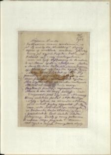 Listy Stanisława Ignacego Witkiewicza do żony Jadwigi z Unrugów Witkiewiczowej. List z 11.04.1923