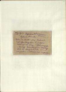 Listy Stanisława Ignacego Witkiewicza do żony Jadwigi z Unrugów Witkiewiczowej. List z 10.10.1923