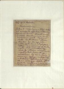 Listy Stanisława Ignacego Witkiewicza do żony Jadwigi z Unrugów Witkiewiczowej. List z 29.10.1923